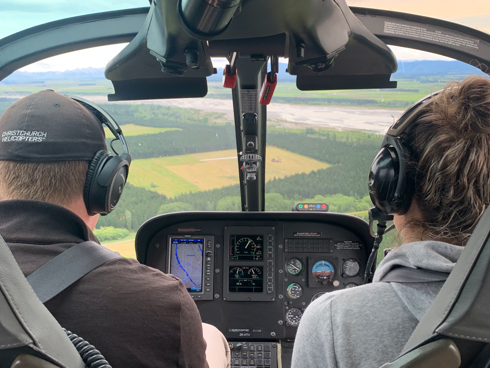 Student learning to fly in an EC120