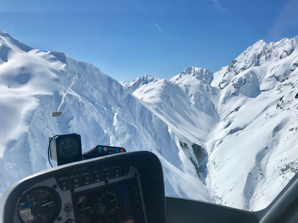 PPL student flying through the Southern Alps