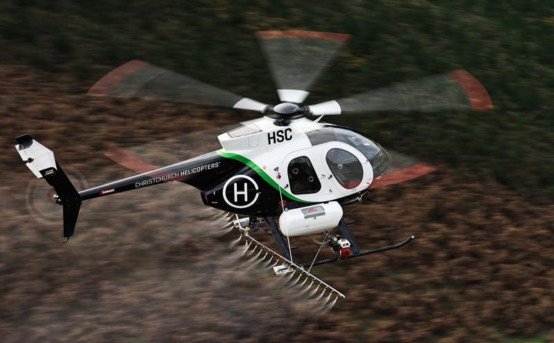 MD500 Spraying Wilding Pines